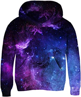Boys Girls 3D Print Graphic Sweatshirts Long Sleeve Cotton Pullover Hoodies with Pocket 3-12Y