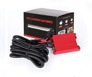 XZ_02 Led Light Bar Wiring Harness,Autofeel Wiring Harness for Dual Color Led Work Light Bar with Remote,Fuse Relay,Waterproof Switch