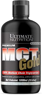 Ultimate Nutrition MCT Gold 100% Pure Medium Chain Triglyceride Oil with No Water, Preservatives, or Artificial Flavors - 14 Grams of MCTs Per Serving, 67 Servings