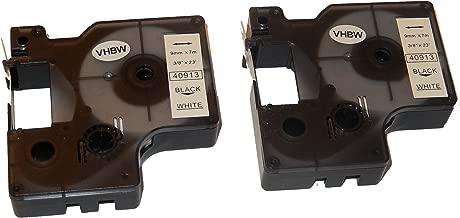 5500 comme Dymo D1 S0720830. Dymo 2000 45803 5000 Cassette Cartouche Ruban 19mm vhbw pour Dymo LabelMaker PC2