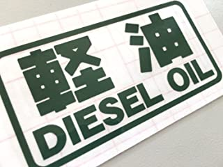 【gus-010】給油口専用カッティングステッカー【緑】軽油