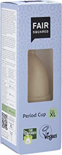 FAIR SQUARED Mestrual Cup%100 doğal lateks. Beden XL 20 ml, Siyah, Tek Beden