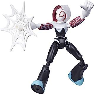 Marvel Spider-Man Figura Flexível de 15 cm, Homem-Aranha Bend and Flex - Aranha Fantasma - E7688 - Hasbro