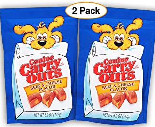 Canine Carry Outs 2 Pack, Beef & Cheese Flavor, Dog Treats/Snack, Each Bag 5.2oz