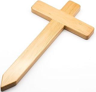 Edles Holzkreuz aus europ. Holz fürs Grab, Grabkreuz aus Ho