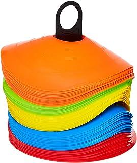 Dorsa Training Agility Cones, 50 pieces- Mix Color, Other, Multicolor