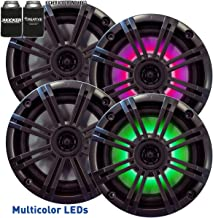 "Kicker 6.5"" Charcoal LED Marine Speakers (QTY 4) 2 pairs of OEM replacement speakers photo"