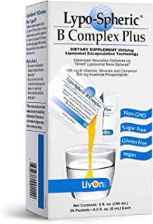 Sponsored Ad - Lypo-Spheric B Complex Plus – 30 Packets – 195 mg B Vitamins, Minerals & Cinnamon Per Packet – Liposome Enc...