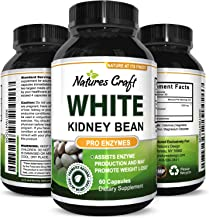 Natures Craft's Pure White Kidney Bean Extract Pills – Natural Dietary Weight Loss Supplement – Starch Carb Blocker Appetite Suppressant Lose Body Fat Aid Digestive System – For Men and Women