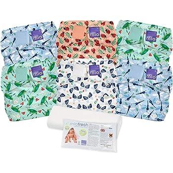 avec insert en bambou Pack couches lavables de qualit/é sup/érieure 8x couches r/éutilisables Keyloo nouveau n/é /à 3 ans taille unique ajustable couches /écologiques couches unisexe