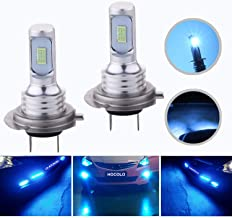 HOCOLO H7 LED Bulbs Ice Blue DRL Fog Driving Light Brighting Daytime Running Lamp Replace Halogen 3570 CSP Chips High Brightness Car Vehicle Parts Plug-N-Play High Power Pack 2(H7_Fog, Ice Blue/8000K)