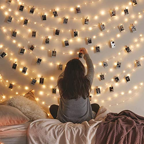 Vont Starry Fairy Lights, String Lights (66FT - 200 LEDs) Bedroom Decor, Wall Decor & Christmas, USB Powered, Bendabl...