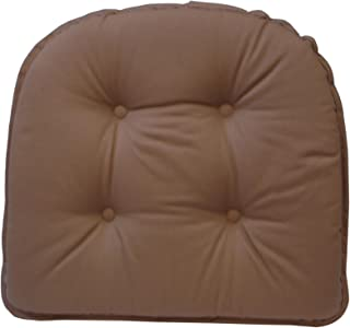 Klear Vu Gripper 100-Percent Cotton Twill Chairpad, Brownstone