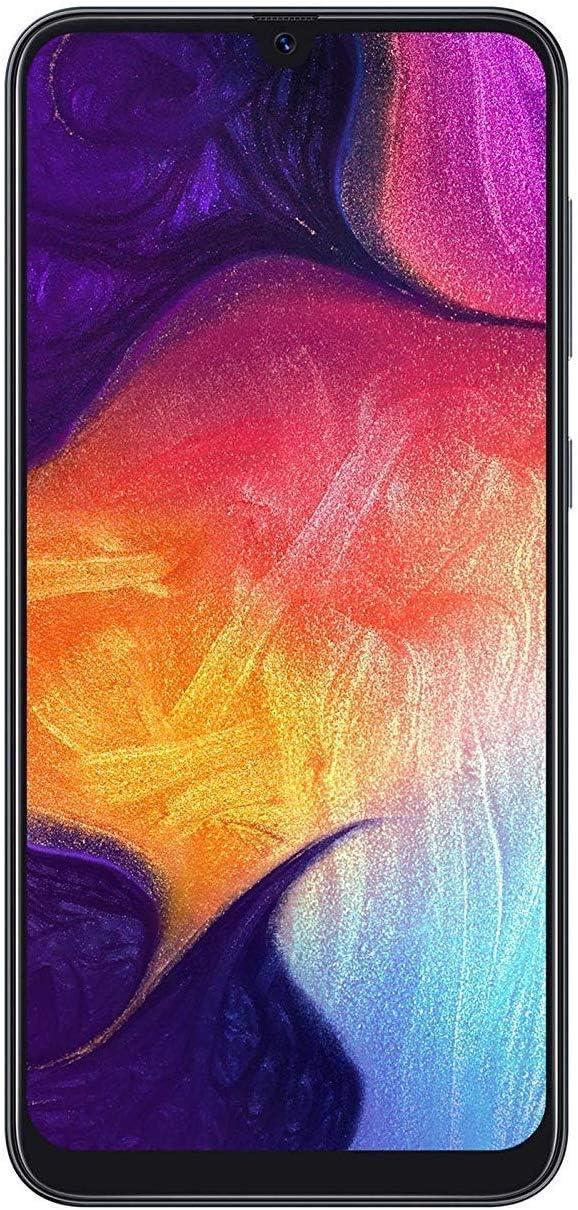 Samsung Galaxy A50 (A505u) 64GB GSM + Sprint Unlocked Smartphone w/Triple-Lens Cameras - Black (Renewed)