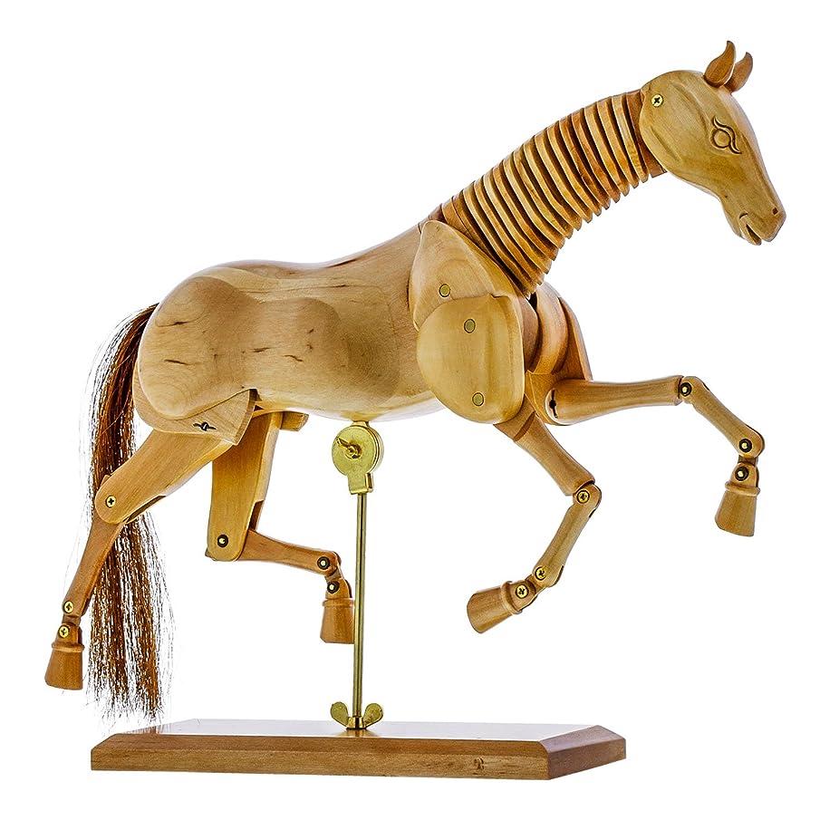 US Art Supply Wooden Horse Artist Drawing Manikin Articulated Mannequin (12