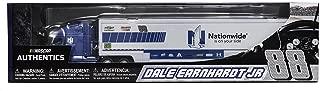 2017 Dale Earnhardt Jr #88 Nationwide Mountain Dew 1/64 1:64 Scale Diecast Hauler Trailer Truck Tractor Semi Rig Transporter Metal Cab/Tractor, Plastic Trailer NASCAR Authentics