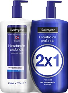 Neutrogena Crema hidratante corporal fórmula Noruega, hidratación profunda, pack 2 x 750 ml