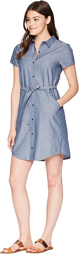 Short Sleeve Twisted Shirtdress