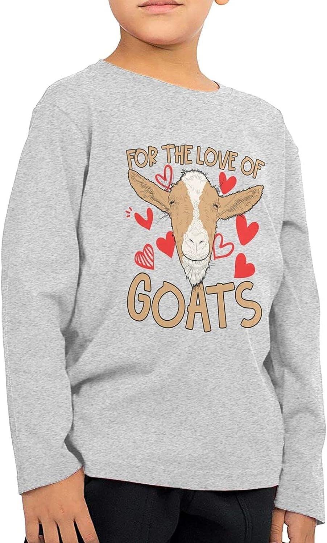 Love Goats Kids Long Sleeve Shirts Cotton Sweatshirt Novelty T-Shirt Top Tees 2-6 Years