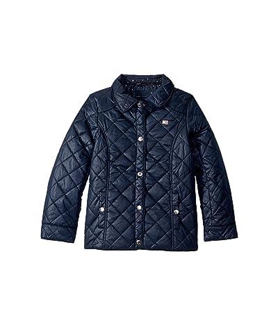 Tommy Hilfiger Kids Diamond Quilted Barn Jacket (Big Kids) (Swim Navy) Girl