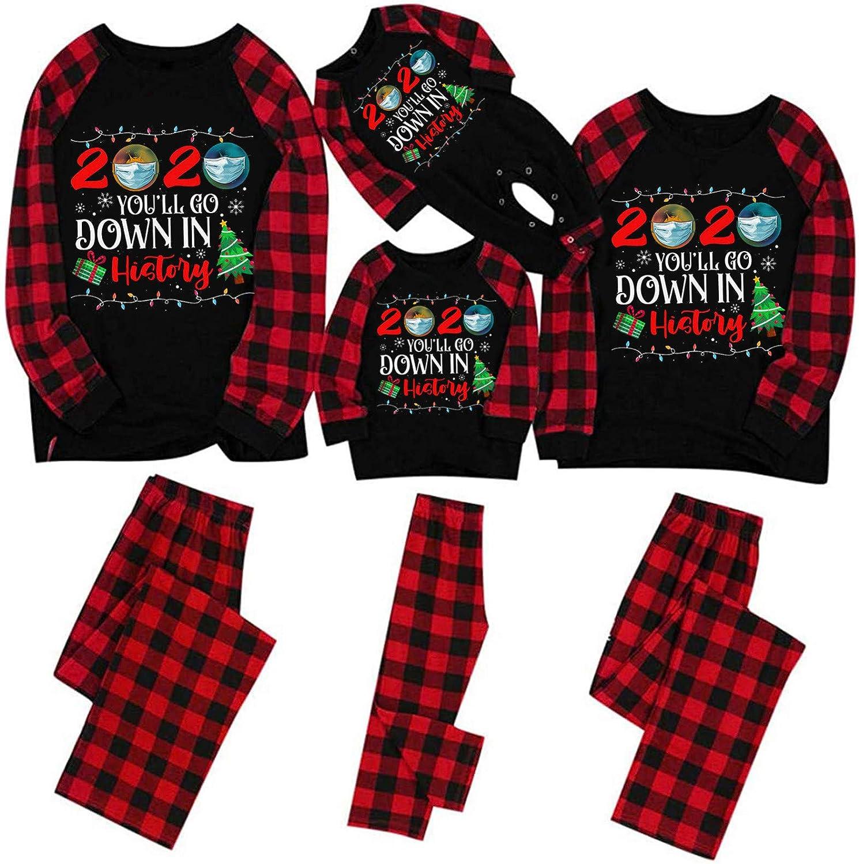 AODONG Christmas Family Women Men Kids Baby Pajama Sets Sexy Matching Christmas Sleeve Silky Satin Pajamas Set Button-Down Sleepwear Pajama Nightwear