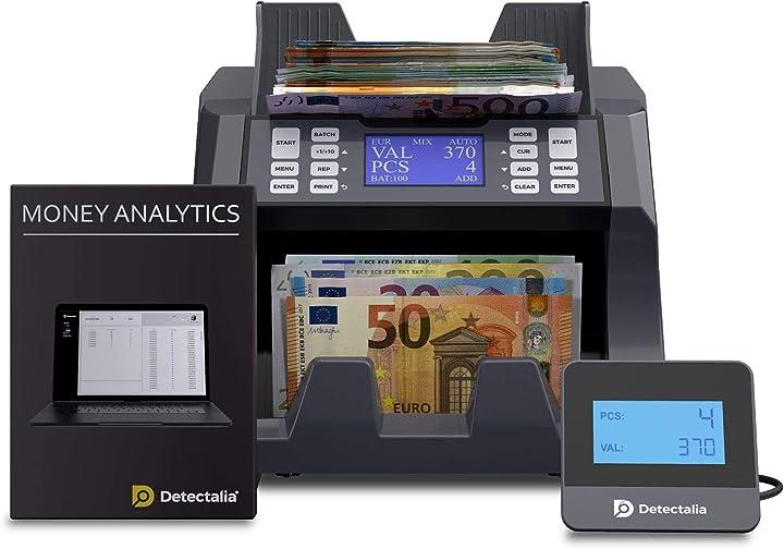 Contabanconote con valore per banconote miste eur, gbp, pln et czk ad alta velocità detectalia v100 B08SCNKML2