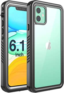 Justcool iPhone 11 Case, Clear Full Body Heavy Duty Protection Case with Built-in Screen Protector Shockproof Rugged Cover Designed for iPhone 11 6.1 inch (2019)