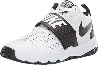 Nike Australia Team Hustle D 8 (PS) Boys Basketball Shoes, White/Black, 1 US
