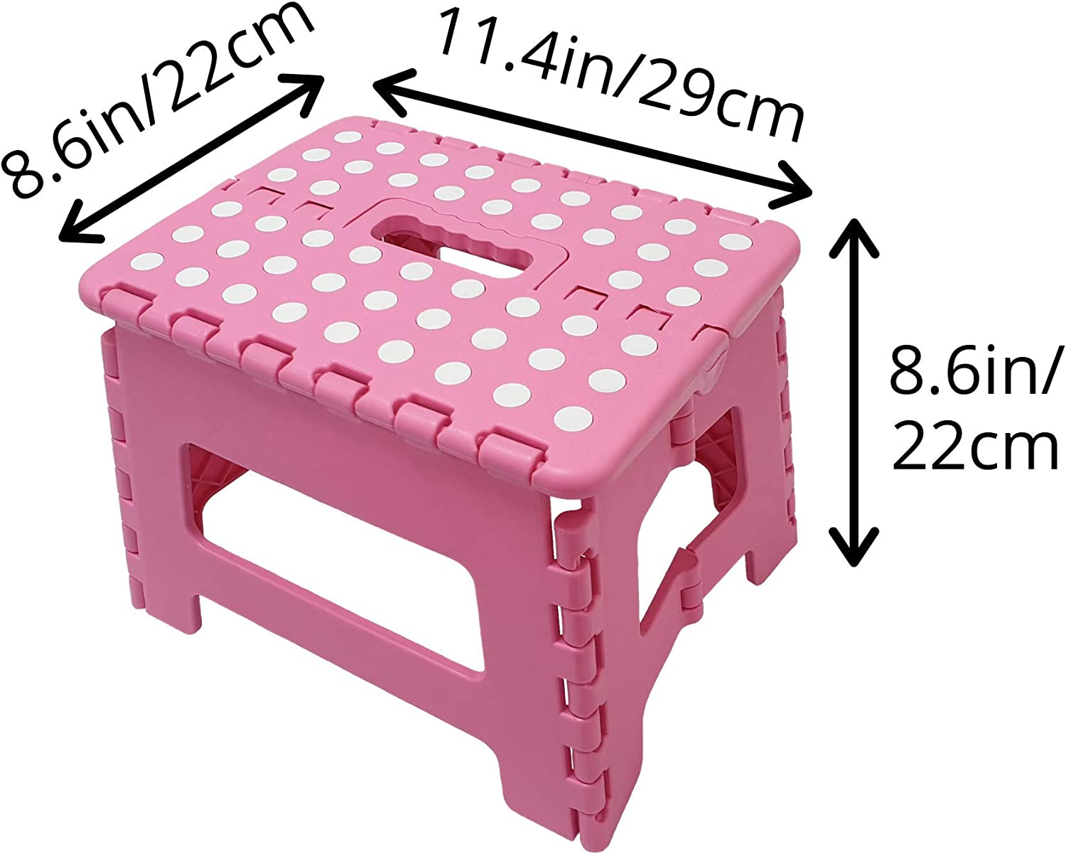 Great for Bedroom Kitchen Bathroom Macro Giant Folding Step Stool Set of 4 Kids or Adults. Black Color Footstool