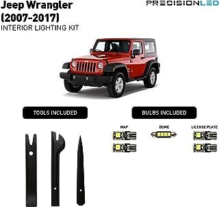 PrecisionLED Jeep Wrangler Accessories JK LED Interior lighting kit - License Plate LED's - Install Tools - Jeep Wrangler Lighting (6000K)