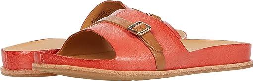 Orange Full Grain Leather