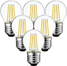 ANWIO E27 filament LED-lamp G45 470Lm lamp 4 W vervangt 40 W, 2700 K warm wit, niet-dimbare Globe LED-gloeilamp, verpakkin...