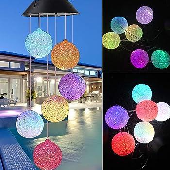 LED Solar Windspiel Licht Farbwechsel Gartendeko Solarleuchte Lampe Leuchte