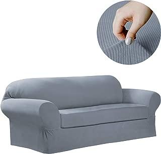 MAYTEX Collin Stretch 2 Piece Sofa Furniture Cover Slipcover, Blue