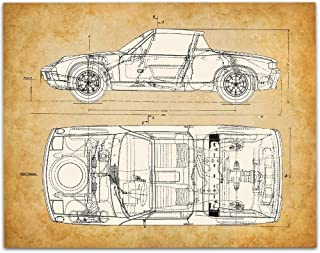 Porsche 914 Patent - 11x14 Unframed Patent - Great Gift Under $15 for Car Lovers and Porsche Drivers