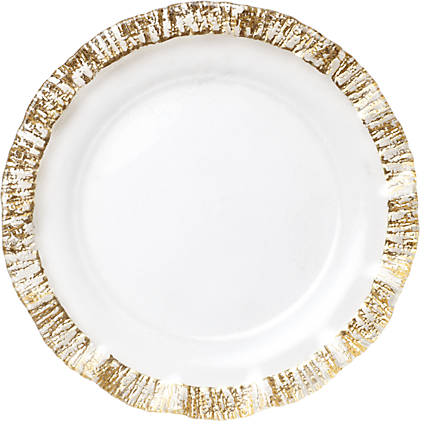 Vietri Ruffle Glass Gold Service Plate/Charger 12.75-in. | belk