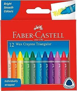 Faber-Castell 621672 Lot de 12 Craies de Cire Triangulaire