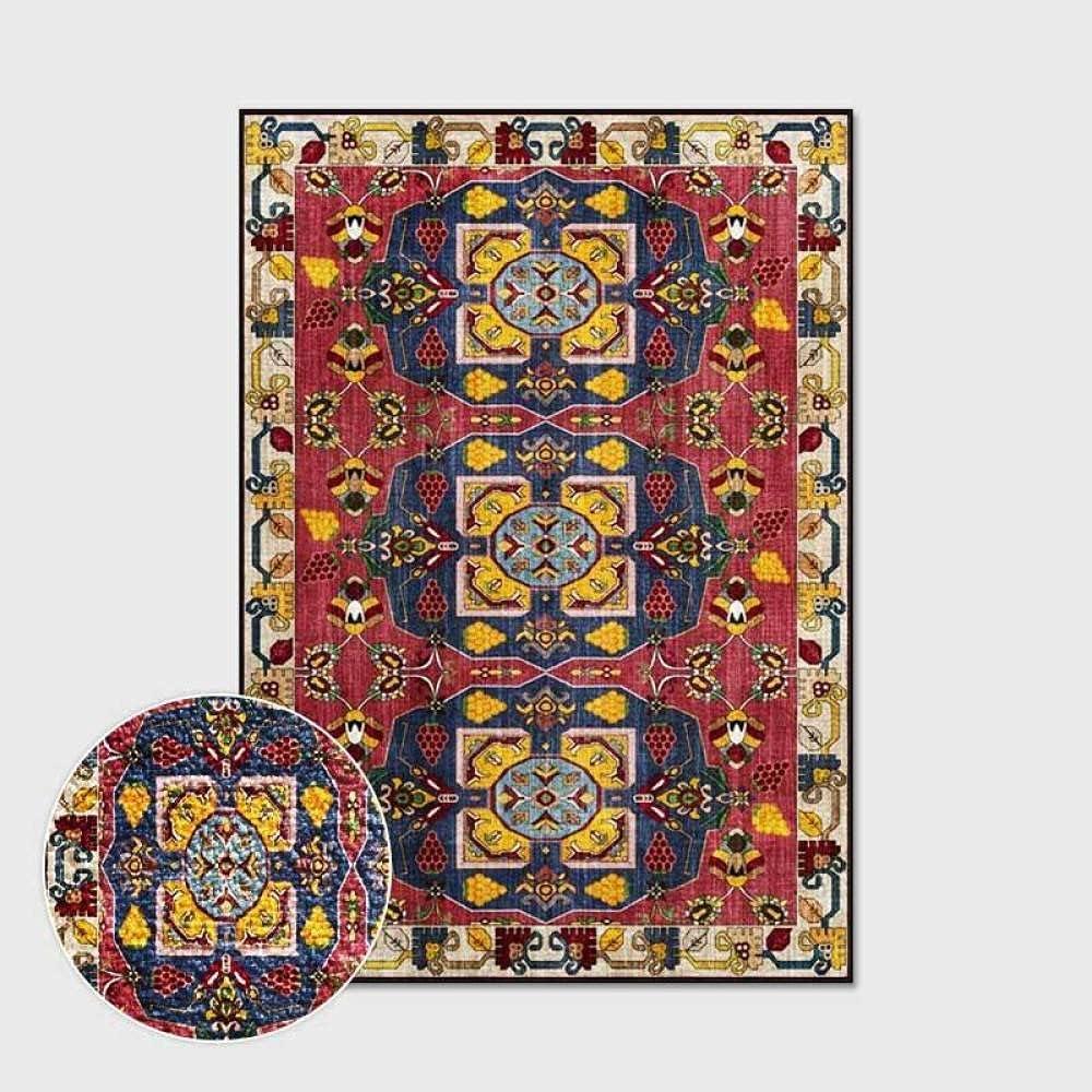 RTYUIHN Rapid rise Crimson Yellow Blue Totem Loop Bedroo Wind Ethnic Velvet Sales of SALE items from new works