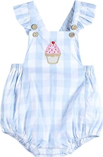 Lil Cactus Baby & Toddler Girls Cross-Back Flutter-Sleeve One Piece Bubble Romper