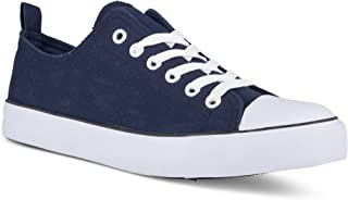 Twisted Womens Hunter Lo-Top Stylish Canvas Sneakers