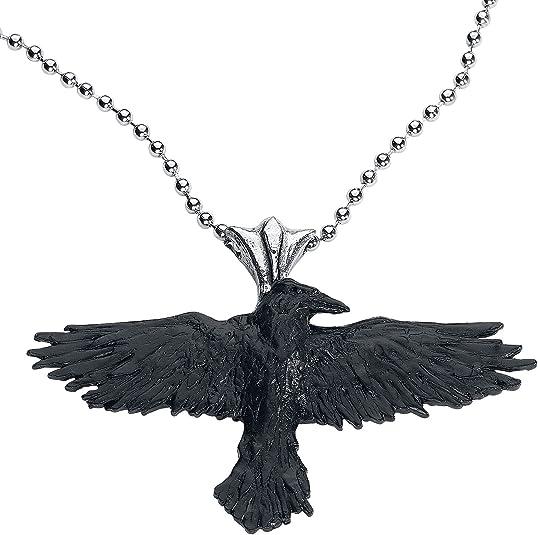 Black Raven Gothic Necklace