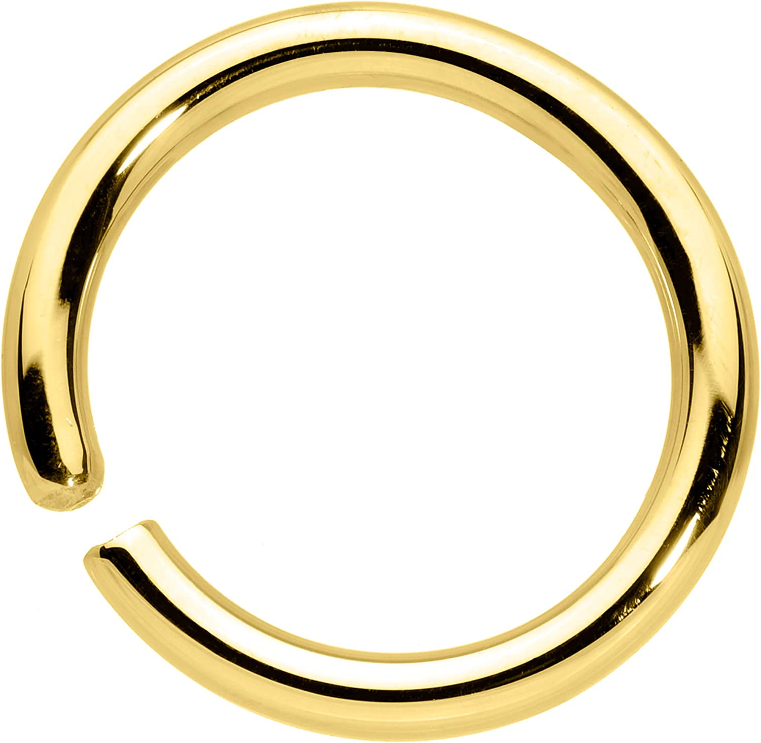 Body Candy Handcrafted 14G Solid 14k Gold Nipple Septum Cartilage Eyebrow Helix 3/8