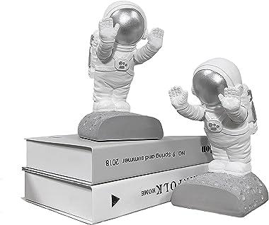 GRAY909 Bookends Decorative Bookends Book Shelves Book Ends Kids Bookends Kids Room Decor Kids Bookshelf Astronaut Decor Spac