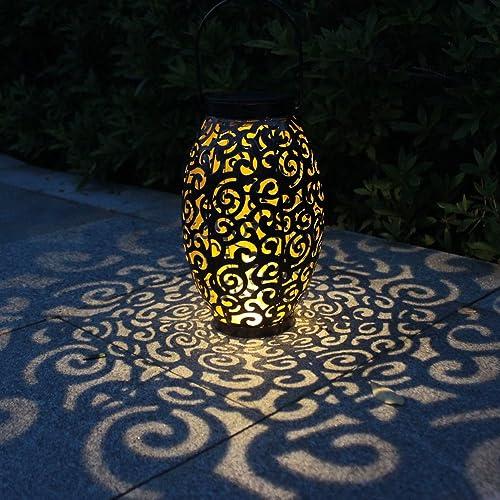 Lanterne Solaire, Tomshine LED Lampe lanterne extérieure, Etanche IP44, Sans fil Rechargeable pour Garden Patio Court...