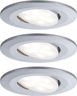 Paulmann 99933 Calla Lot de 3 Spots LED encastrables Ronds avec 3 x 6,5 W IP65 à intensité Variable, éclairage d'armoire, ...