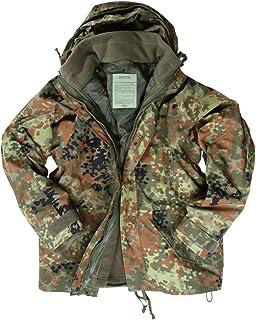Leger Waterdichte ECWCS Hooded Jacket Smock Parka Fleece FLECKTARN, MAAT L