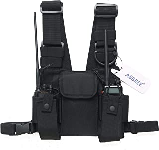 Abbree Front Pack Pouch Holster Vest Rig Chest Bag Carry Case for Baofeng Two Way Radio UV-5R BF-F8HP UV-82 TYT Motorola M...