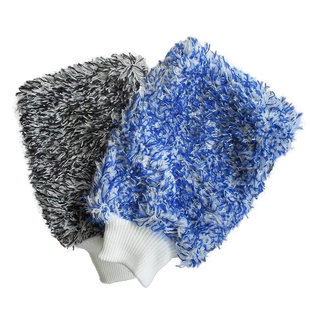 森林パール列挙するBTXXYJP ソフト 吸収 手袋 高密度 洗車 超ソフト 簡単 乾燥 1ペア (Color : Blue)