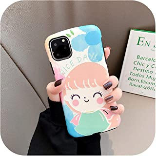 for Iphone11Promax Huawei Oppo Vivo Mobile Phone Shell Protective Cover Small Waist All-Inclusive Soft Shell-Happy Girl-Vivo X23