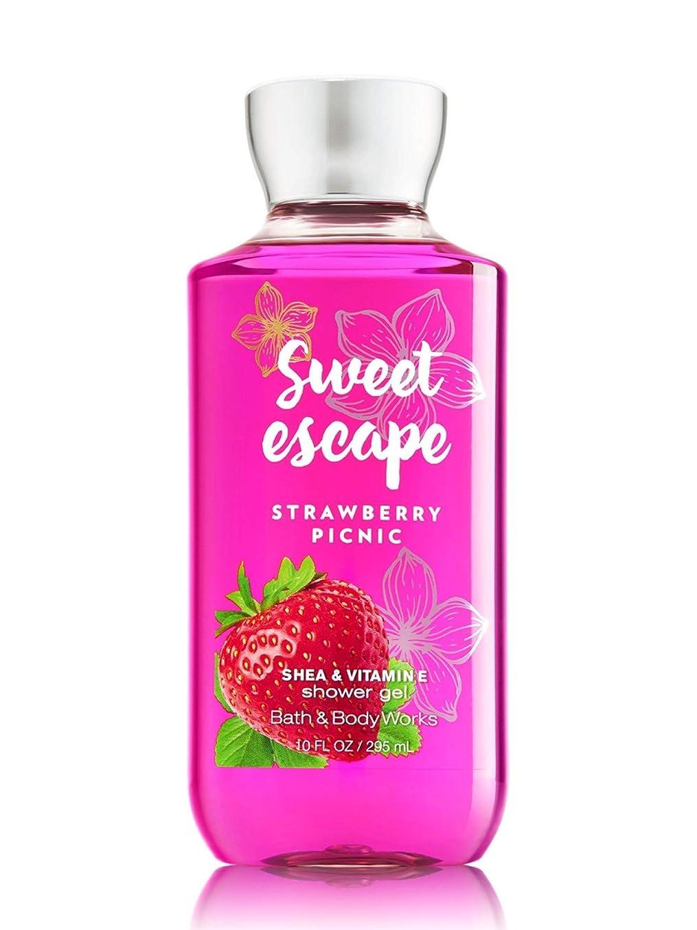 誓約年齢生産的【Bath&Body Works/バス&ボディワークス】 シャワージェル ストロベリーピクニック Shower Gel Sweet Escape Strawberry Picnic 10 fl oz / 295 mL [並行輸入品]